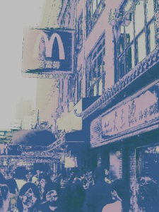 La importancia de la comunidad china es tal que hasta los McDonalds emplean su idioma en determinados lugares de Manhattan