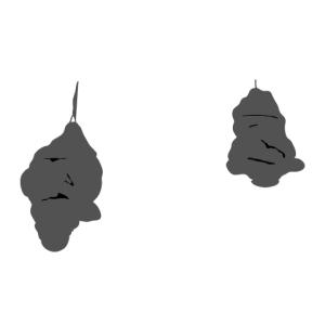representación de los mojones colganderos a la entrada del Guggenheim de Nueva York