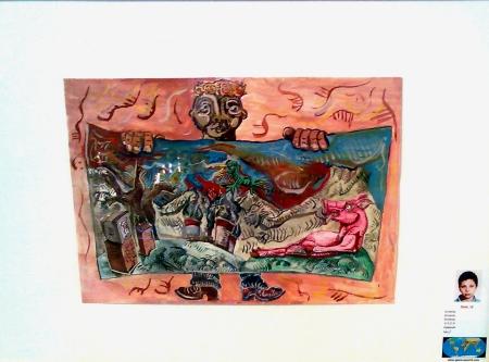 La obra expuesta por un chico armenio llamado Zack en la ONU en el verano de 2008