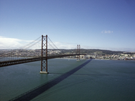 Una de las fotos más típicas de turista en Lisboa, pese a Mapfre