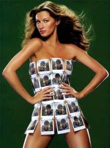 Giselle Bündchen, por una vez el vestido era mejor que su cuerpo
